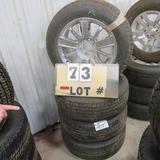 (4) Goodyear New Take-Off Tires w/6-Lug Wheels