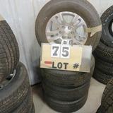 (4) Michelin Take-Off Tires w/6-Lug Chevrolet