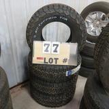 (4) B.F. Goodrich New Sticker Tires (Tires Only)