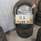(4) Michelin New Take-Off Tires w/5-Lug Toyota