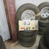 (4) Goodyear New Take-Off Tires w/6-Lug