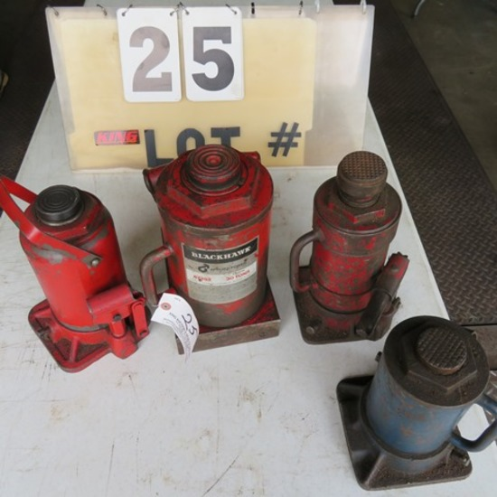 (4) Large Bottle Jacks up to 30-Ton