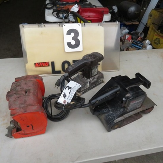 "Pair of Sanders & 5"" Bench Grinder"