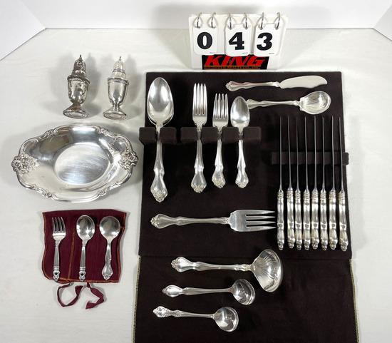 Set of Westmoreland Sterling Silver Flatware