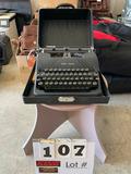Smith-Corona Typewriter w/Carrying Case