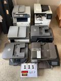 (5) HP Hewlett-Packard Copiers/Fax/Scan