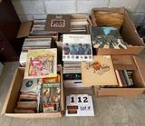 (6) Boxes of LP Vinyl Records
