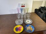 Lot of Asst'd. Plates & Goblets