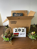 Lot of Decorative Items -Bird Cages, Wire Basket
