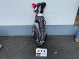 Golf Bags and Assorted Clubs