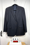 Nautical Men's Black Wool Sportcoat 44L