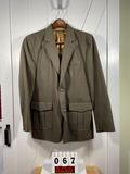 JL Powell Men's Sportcoat w/Zipper, 44L Gray/