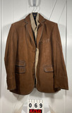Flynt Men's Brown Leather Sportcoat 44R