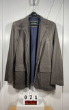 Overland Men's Gray Leather Sportcoat Size 44