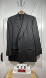 Pronto Uono Firenze Italy Men's Black Suit 44L