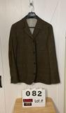 Flynt Mens Brown Wool/Nylon Sportcoat 44L