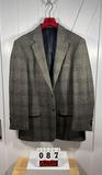Hunter & Coggins Gray Wool Men's Sportcoat 44L