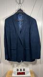 Tommy Hilfiger Men's Navy Cotton Sportcoat 44L