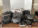 (9 count) MIsc. Camera Bags - Nikon, Sony