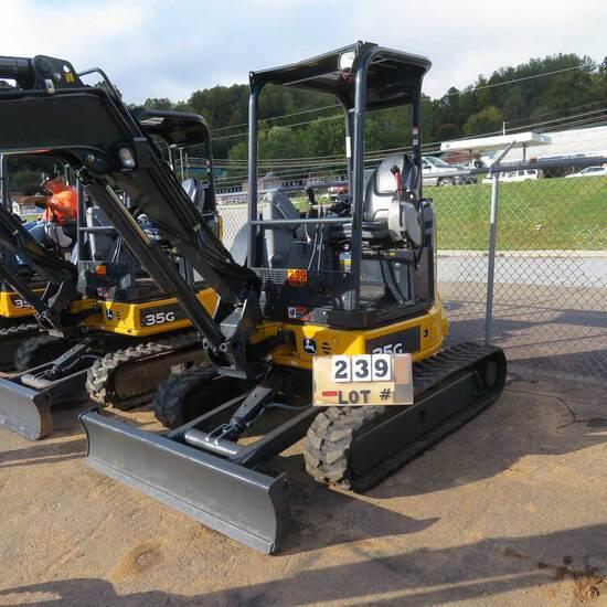 John Deere 35G Mini Excavator w/Hydraulic Thumb.740 Hrs., S/N 1FF035GXTKK288853