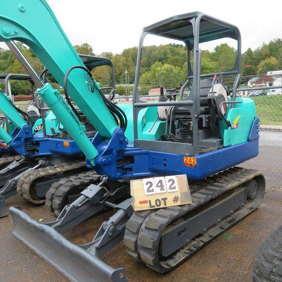 IHI 55N3 Mini Excavator w/Hydraulic Thumb, 2868 Hrs., S/N WP003627