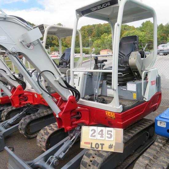 Takeuchi TB 228 Mini Excavator S/N 122803728, 1162 Hrs.