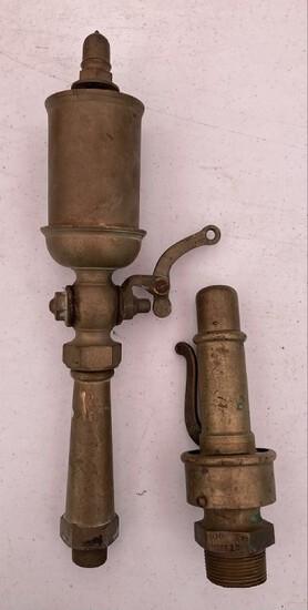 (2) Brass Steam Compression Valves
