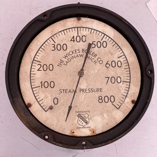 Wickes Boiler Co. Pressure Gauge (saginaw, Mi)