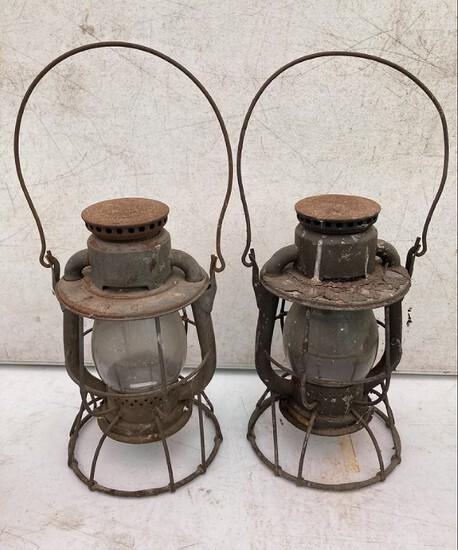 Pair Of Dietz Railroad Lanterns