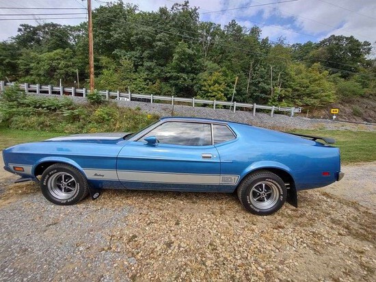 1973 Ford Mustang Coupe.Nice smooth running car.Good condition. EXEMPT MILE