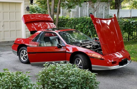 1985 Pontiac Fiero GT Coupe.Two seater, mid engine sports car.Show car/coll