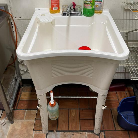 White Compartment Sink