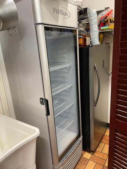 Single Glass Door Cooler - Premium