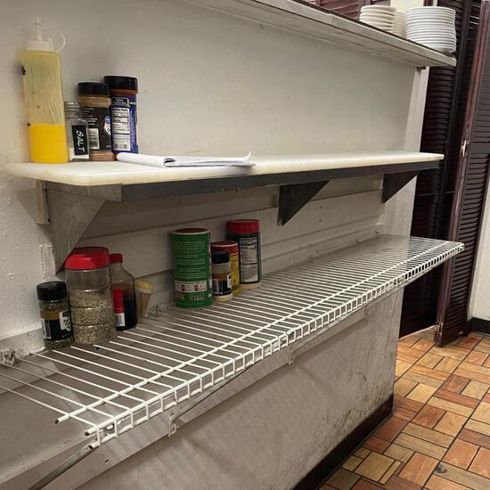 White Breakfast Shelf