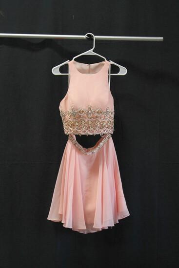 Rachael Allen Pink 2 Piece Seguined Mini Dress Size 6 Size: 6