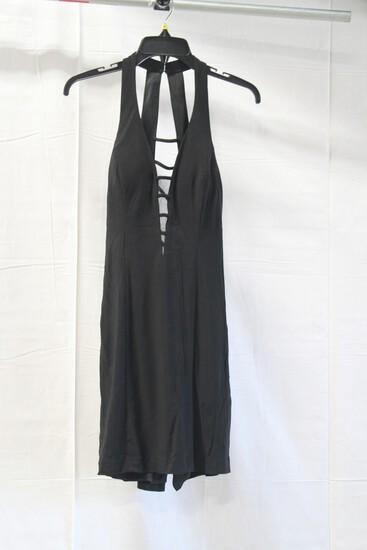 Open Back Black Mini Dress Size: 6