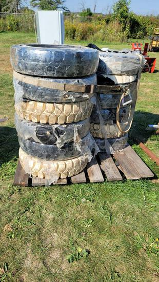 Large Solid Forklift Tire Lot
