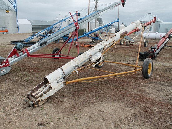 "SPEED KING MFG. CO. INC. PORTABLE 10"" x 20' APPROX. TUBULAR GRAIN AUGER"