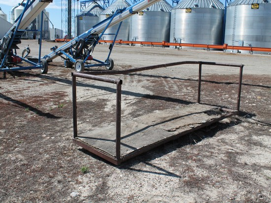 CUSTOM DESIGNED AND FABRICATED METAL FORKLIFT WORK PLATFORM
