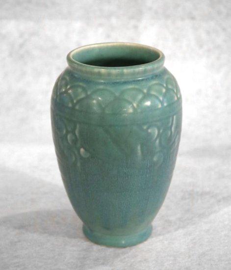 "5.5"" Teal Rookwood Vase"