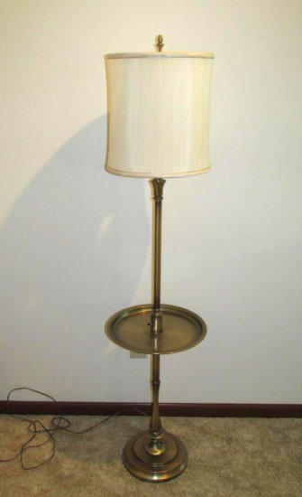 Brass Table Floor Lamp