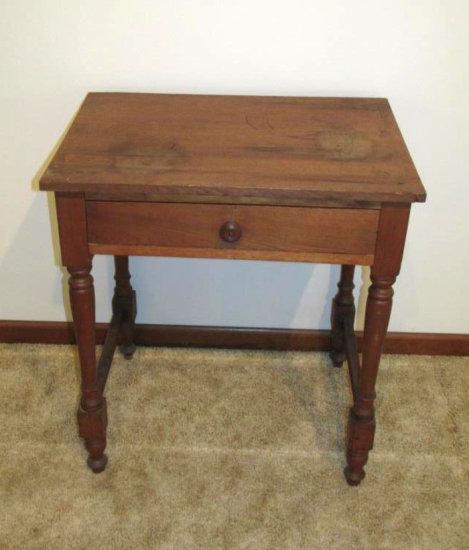 Wood Single Drawer Table
