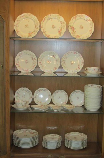 Haviland Limoges China Set With Serving Pieces