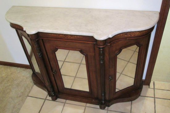 English Marble Top Server