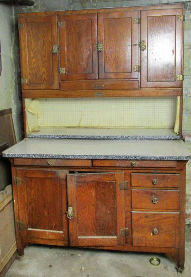 Sellers Antique Wood Hoosier Cabinet - BM