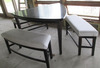 Large 4-Piece Triangular Pub Table With Benches - PB