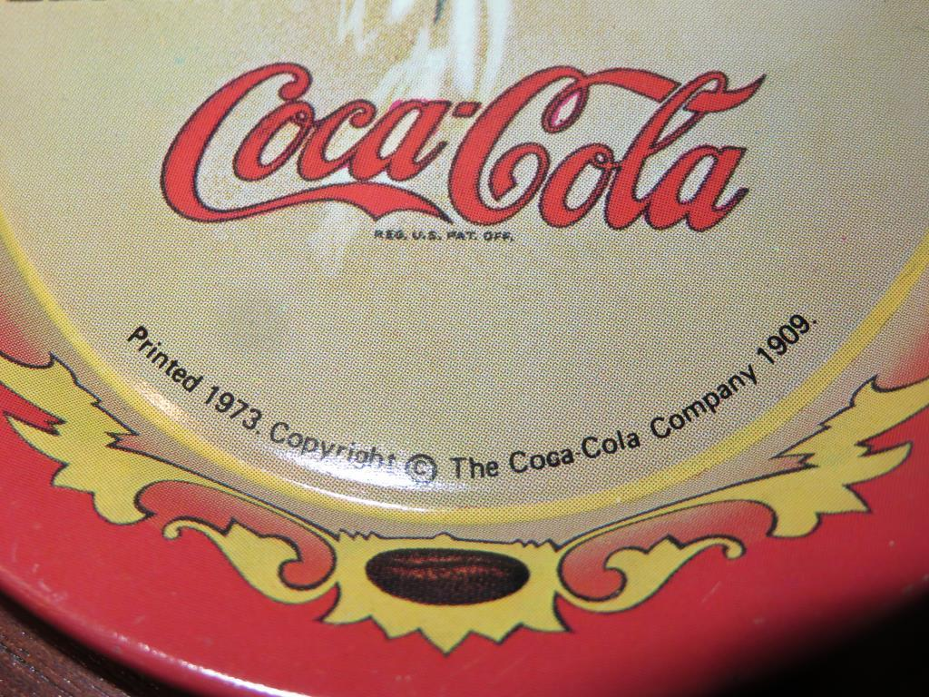 Lot: Dog Figurines, Vase, Goblets & Coca-Cola Trays - W | Proxibid