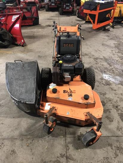 "36"" Scag Hydro Walk Behind Mower Without Bag Latch"