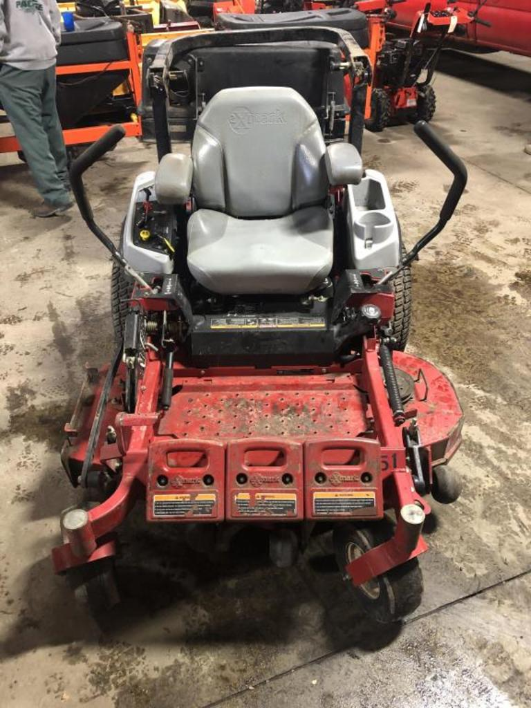 """52"""" eXmark Riding Mower With Hood - No Bags"""