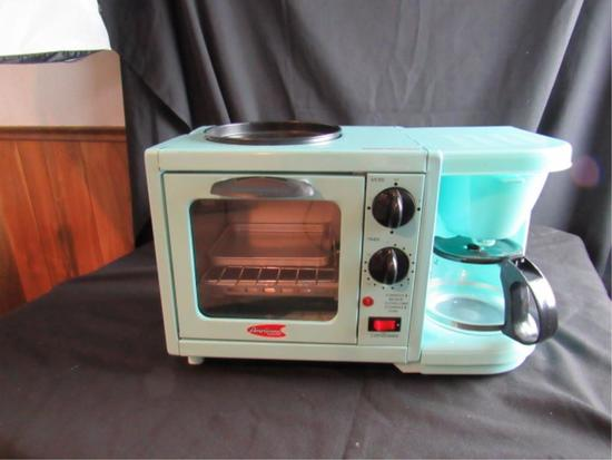 Americana Toaster Oven and Coffee Maker